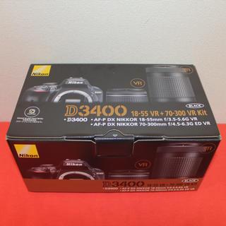 Nikon - ☆新品・未開封☆ Nikon D3400 ダブルズームキット