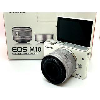 Canon - ★カメラ女子に大人気のホワイトカラー♪★Canon EOS M10 レンズセット