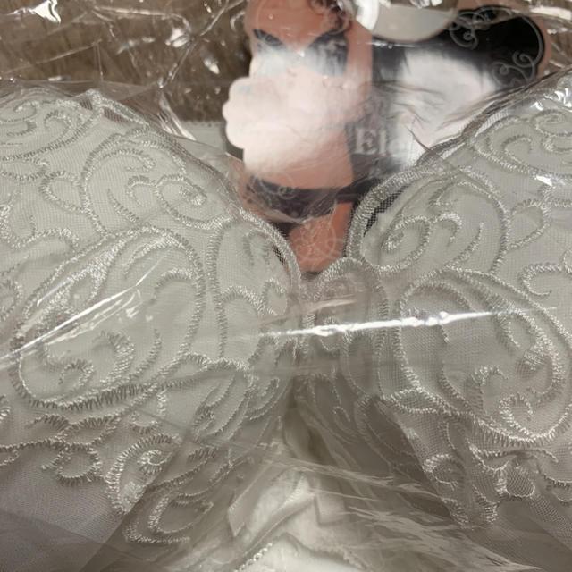 E75 ホワイト ブラセット  レディースの下着/アンダーウェア(ブラ&ショーツセット)の商品写真
