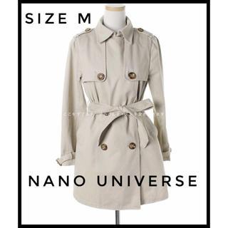 ナノユニバース(nano・universe)の美品 nano universe トレンチコートサイズM ベージュ(トレンチコート)