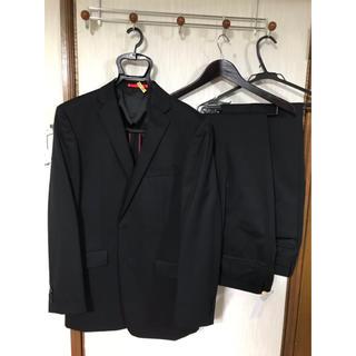 アオヤマ(青山)の☆ほぼ新品☆ スーツ 黒無地 ツーパンツスーツ スラックス(セットアップ)
