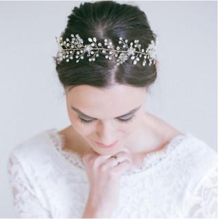 ❤ラクマ最安値!!❤ ブライダル 小枝ヘアアクセサリー 結婚式 花嫁(カチューシャ)