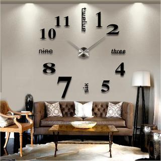 ☆大きいサイズ壁掛け時計 ローマ数字と英語併用するサイレント★バカ売れ!★(置時計)