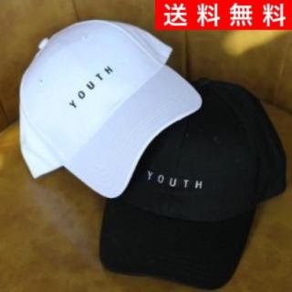 [最安値POWER SALE!]大人気シンプル ロゴキャップ 男女兼用 新品 黒(キャップ)