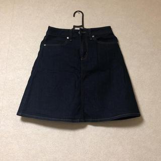 ジーユー(GU)のGU/デニムスカート(新品)(ひざ丈スカート)
