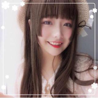 ❤夢かわ❤ ダークブラウン 姫カット ロングストレート 超カワイイ フルウィッグ(ロングストレート)
