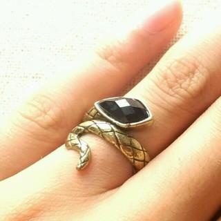 送料無料☆ブロンズの蛇ピンキーリング☆(リング(指輪))