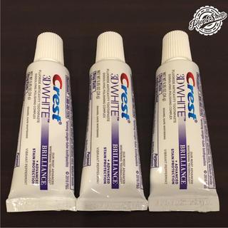 クレスト(Crest)の【新品】クレスト 3D ホワイト ブリリアンス ホワイトニング歯磨き粉3本セット(歯磨き粉)