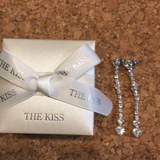 ザキッス(THE KISS)のTHE KISS ラインストーンピアス 未使用品!箱付き!(ピアス)