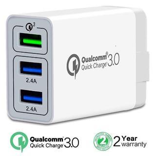 QuickCharge3.0 USB3.0対応 2.4A 急速充電ACアダプター(その他)