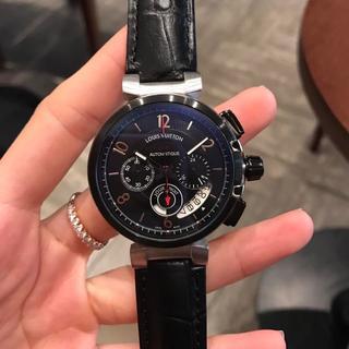 ルイヴィトン 腕時計 メンズ ブラック LOUISVUITTON