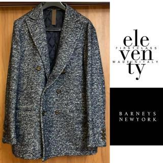 バーニーズニューヨーク(BARNEYS NEW YORK)の【eleventy】 ダブルチェスターコート 紺 BARNEYS NEWYORK(チェスターコート)