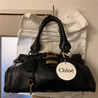クロエ(Chloe)の美品 有楽町店Chloe 約21万 ブラック大型パディントン(ハンドバッグ)