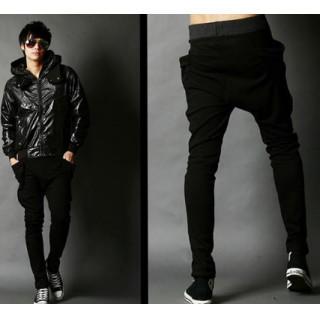 人気 メンズパンツ XL 黒 ジョガーパンツ スエットパンツ (ワークパンツ/カーゴパンツ)