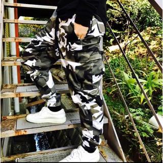 大人気!新発売☆カモフラ迷彩 ジョガーパンツ カーゴパンツ ストリート(ワークパンツ/カーゴパンツ)