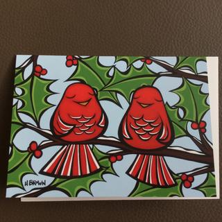 ヘザーブラウン クリスマスカード♡新品 ハワイから(カード/レター/ラッピング)