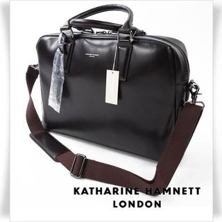 キャサリンハムネット(KATHARINE HAMNETT)の新品タグ付き!キャサリンハムネット2WAY シュリンクレザー  ビジネスバッグ (ビジネスバッグ)