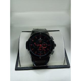 ウブロ(HUBLOT)のウブロ メンズファッション 自動巻き ラバーベルト 腕時計 赤黒文字盤(ラバーベルト)