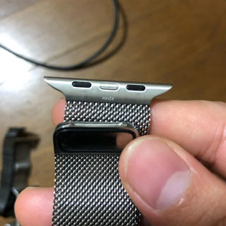 アップルウォッチ(Apple Watch)のアップル純正 シルバーミラネーゼループApple Watch(その他)