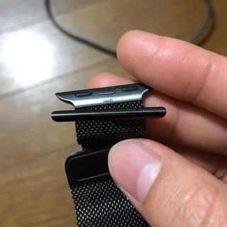 アップルウォッチ(Apple Watch)のほぼ未使用 アップル純正 ブラックミラネーゼループApple Watch(その他)