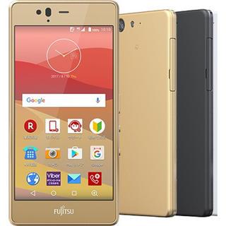 アロー(ARROW)の新品 SIMフリー arrows m04 ゴールド(スマートフォン本体)