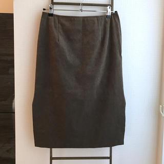 ノーブル(Noble)のNoble スエードタイトスカート(ひざ丈スカート)