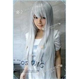 コスプレ用 ウィッグ フリーサイズ 銀髪(ロングストレート)