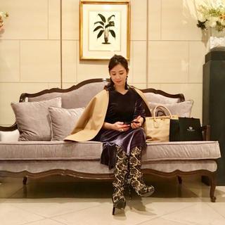ツルバイマリコオイカワ(TSURU by Mariko Oikawa)のSTORY掲載 Tsuruby mariko ogawa レースニーハイブーツ(ブーツ)