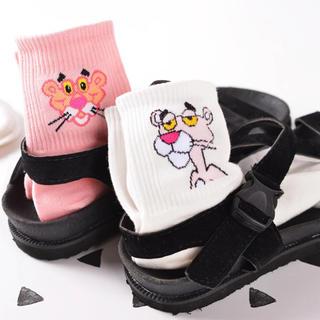 韓国ファッション  ピンクパンサー  くつ下 ソックス(ソックス)