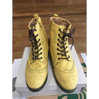 黄色 レースアップブーツ LL 25㎝(ブーツ)