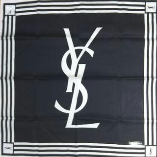 サンローラン(Saint Laurent)の①新品  イヴサンローラン  ハンカチ①  白黒(ハンカチ)