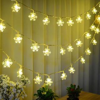 イルミネーション クリスマス 装飾 ライト 照明■雪 スノー 結晶デザイン■5m(蛍光灯/電球)