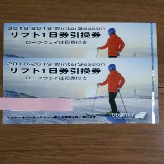 びわ湖バレイ リフト1日券引換券 2枚(スキー場)