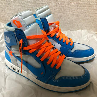 ナイキ(NIKE)のNIKE × Off-White Air Jordan 1 NRG UNC(スニーカー)