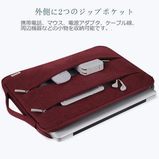 人気です☆☆【13-13.5インチ用】防水 PCキャリングケース ワインレッド(ビジネスバッグ)