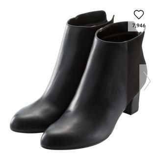 ジーユー(GU)のジーユー ショートブーツ ブラック Lサイズ(ブーツ)