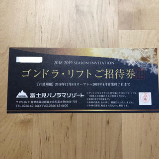 富士見パノラマリゾート リフト券(スキー場)