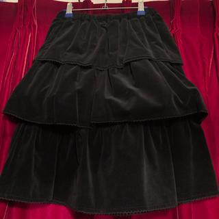 バツ(BA-TSU)のBATSU 別珍三段ティアードスカート(ひざ丈スカート)