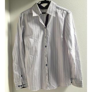 アオヤマ(青山)のストライプシャツ Yシャツ レディース(シャツ/ブラウス(長袖/七分))