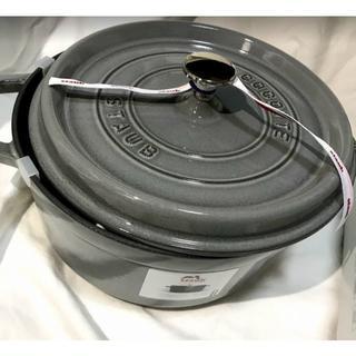 ストウブ(STAUB)の【新品】ストウブ 24cm ピコ ココット ラウンド(鍋/フライパン)