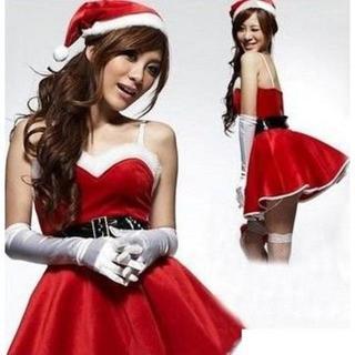 【即日発送】サンタクロース 衣装 コスチューム レディース フリーサイズ