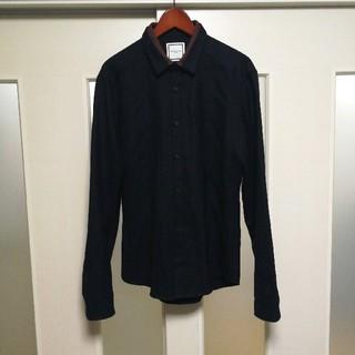 ウーヨンミ(WOO YOUNG MI)のウーヨンミ 長袖シャツ 襟レイヤード ネイビー メンズ 韓国 (シャツ)