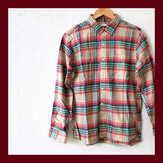 ジーユー(GU)のGU   ●ネルチェックシャツ【美品】(シャツ)