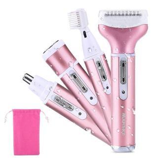 【大人気♡】 レディースシェーバー 4in1 防水 多機能で肌に優しい ピンク(脱毛/除毛剤)