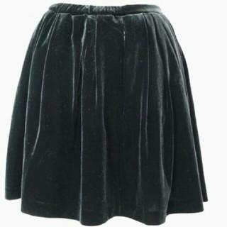 マーキュリーデュオ(MERCURYDUO)のマーキュリーデュオ ベロアチュールスカート ブラック(ミニスカート)