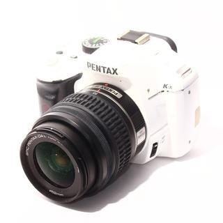 ★WifiSDでスマホに転送★ペンタックス k-x ホワイト レンズ(デジタル一眼)