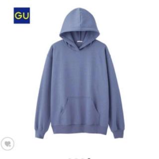 GU - パーカー くすみブルー