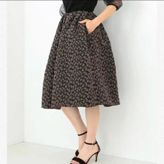 デミルクスビームス(Demi-Luxe BEAMS)のdemi-luxe BEAMS デミルクスビームス ジャガードフラワースカート(ひざ丈スカート)