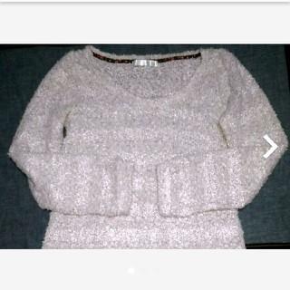 アロー(ARROW)のニットセーター  ふわふわピンク(ニット/セーター)
