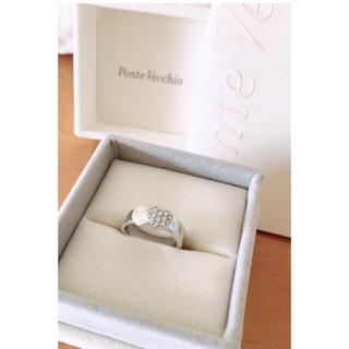 ポンテヴェキオ(PonteVecchio)のポンテヴェキオK18ホワイトゴールドパブェダイヤモンドリング(リング(指輪))